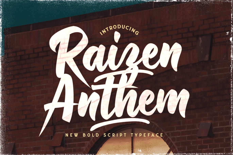 Raizen Anthem - Bold Script Font