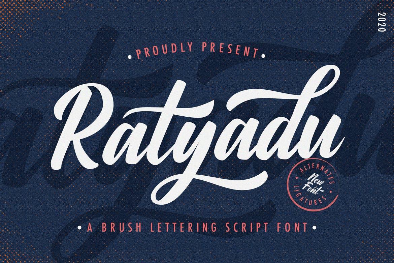 Ratyadu - Vintage & Retro Bold Script Font