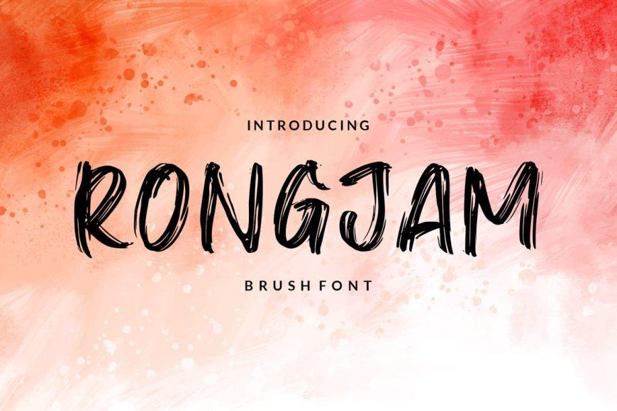 Rongjam - Brush Font