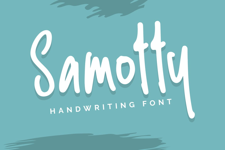 Samotty - Handwriting Font