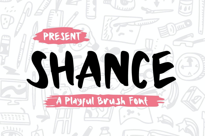 Shance - A Playful Brush Font