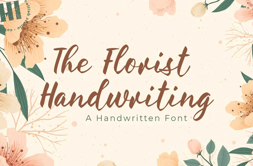 The Florist Handwriting