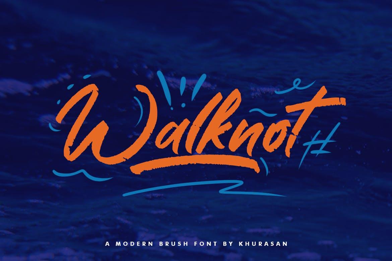Walknot Brush Font