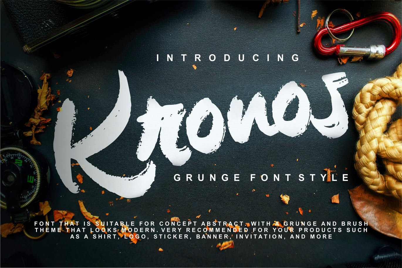 Kronos   Grunge Font Style