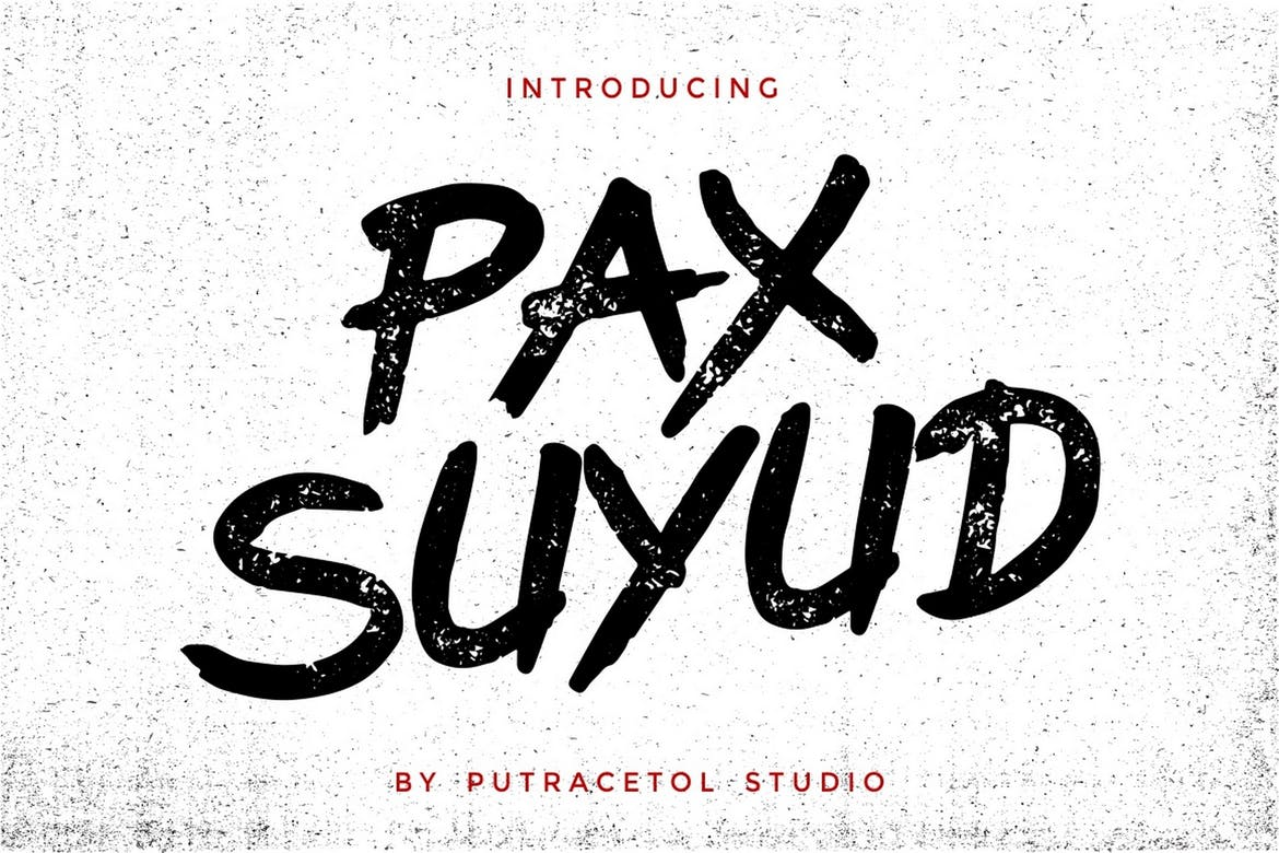 Pax Suyud - Brush + Rough Font