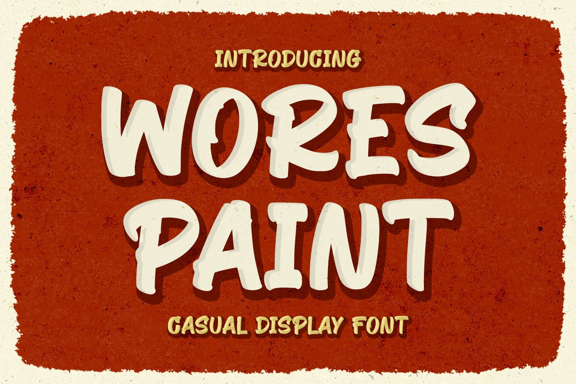 Wores Paint - Casual Display Font