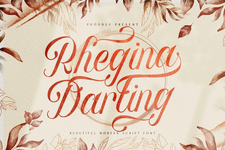 Rhegina Darling - Lovely Script Font