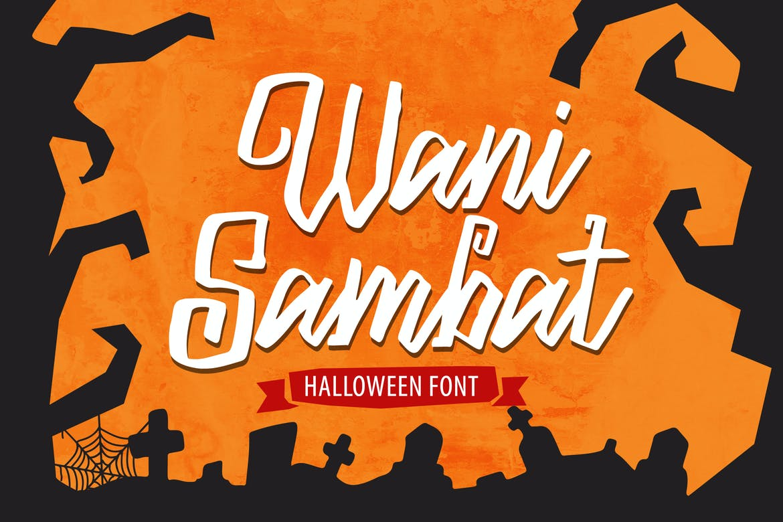 Wani Sambat - Halloween Font
