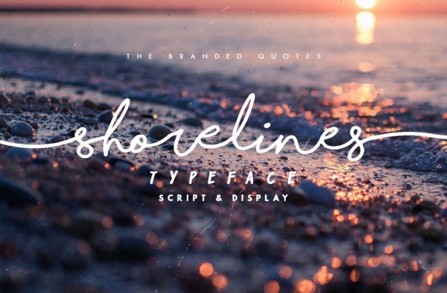 shorelines script bold font
