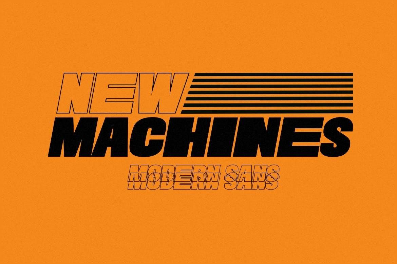 New Machines - Modern Sans
