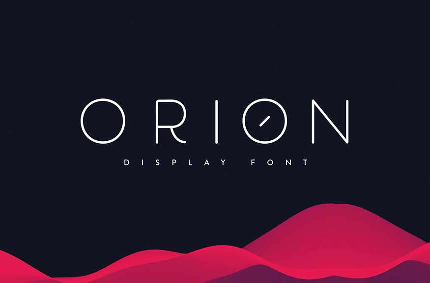 Orion Display Font